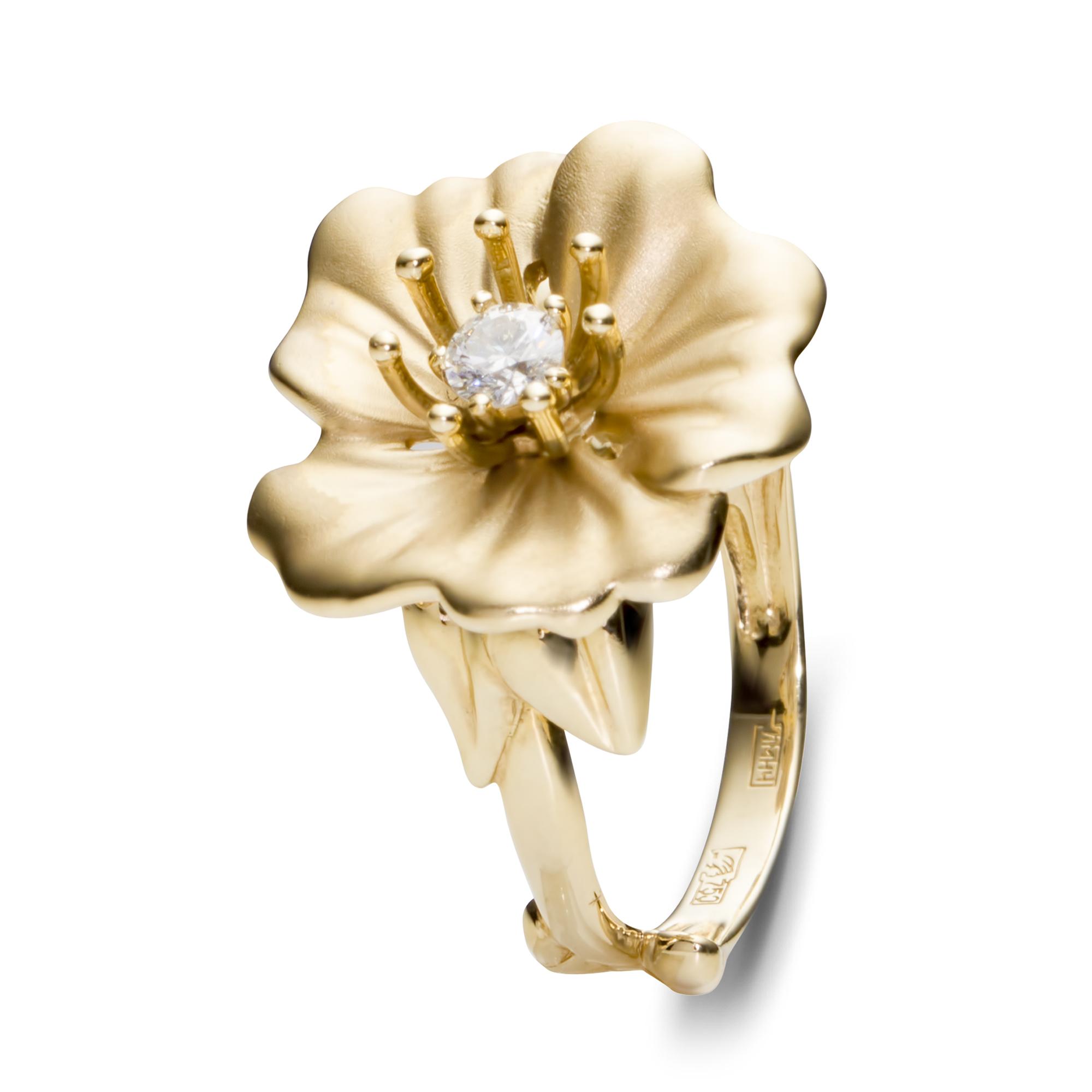 Кольцо с большим цветком картинки